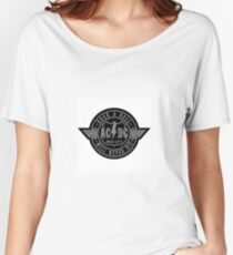 AC/DC Logo Patch Women's Relaxed Fit T-Shirt