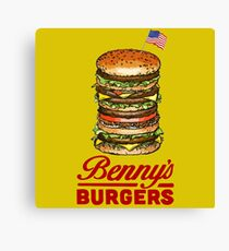 The Original Benny's Burgers - ELEVEN - stranger things Canvas Print