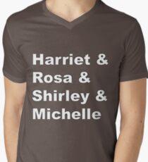 Harriet & Rosa & Shirley & Michelle Men's V-Neck T-Shirt