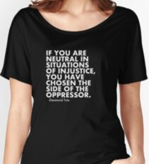 Human Rights Quote Protest Political  Relaxed Fit T-Shirt