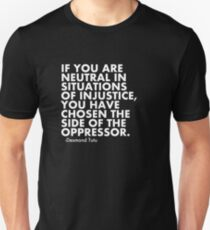 Human Rights Quote Protest Political  Unisex T-Shirt