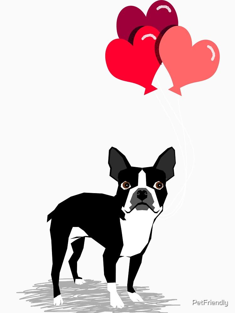 Valentinsgruß-Liebe-Ballongeschenke Bostons Terrier für die Hundeliebhaber-Haustierinhaber-Hunderassen kundengerecht von PetFriendly