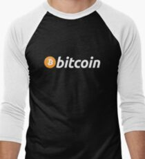 Bitcoin Logo Men's Baseball ¾ T-Shirt