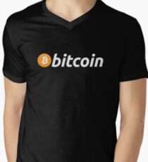 Bitcoin Logo Men's V-Neck T-Shirt