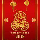 2018 Year of The Dog Chinese Zodiac by ChineseZodiac