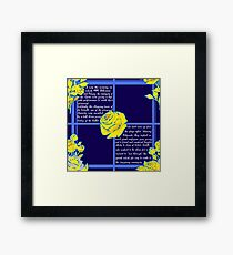 The Phantom of the Opera - A Text Based Pattern Framed Print