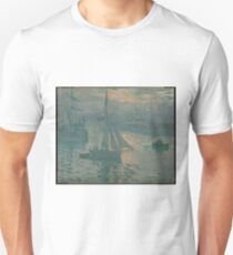 Sunrise (Marine) - Claude Monet Unisex T-Shirt