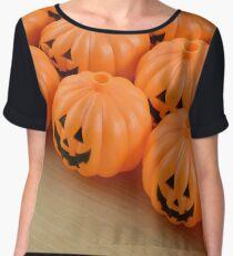 Halloween Jack O'lanterns Women's Chiffon Top