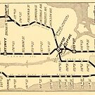 New York City Vintage Subway Map by mindydidit