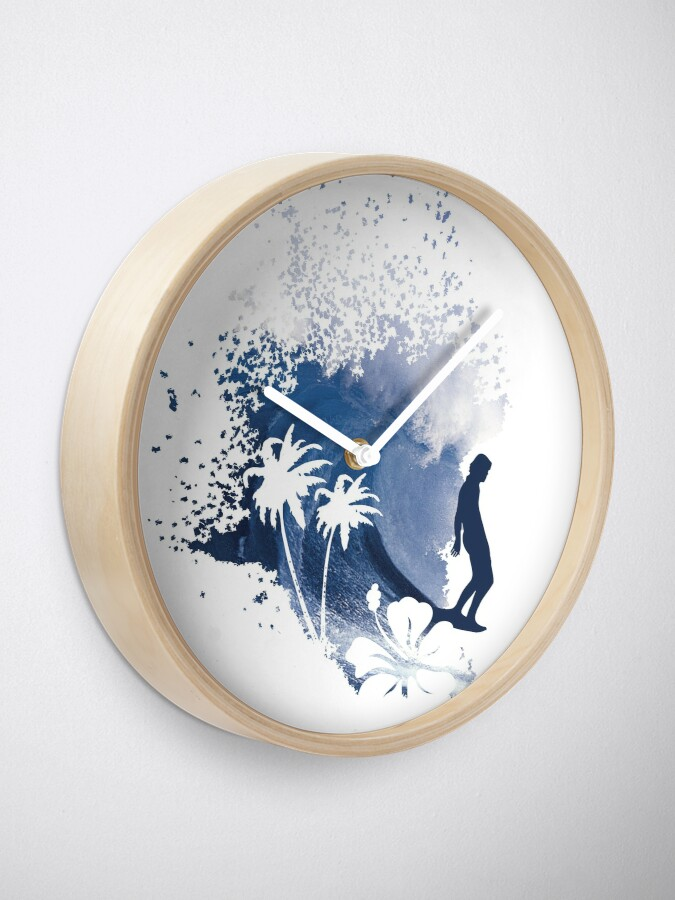 Alternate view of Big Wave Surfer Clock