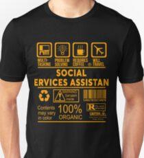 social services assistant nice design 2017 unisex t shirt