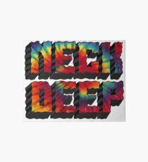 Neck Deep Tie Dye Art Board