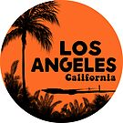 SURFING LOS ANGELES CALIFORNIA RETRO PALMS SURFER BEACH by MyHandmadeSigns