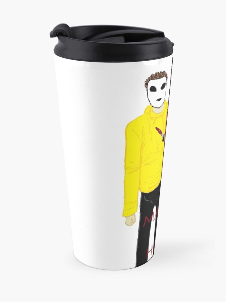 Alternate view of Masky & Hoodie Travel Mug
