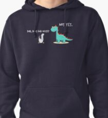 Does God exist? Not yet  Pullover Hoodie
