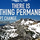 Heraclitus Quote over Grand Tetons by Minivillage