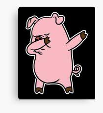 Dabbing Pig Shirt Canvas Print