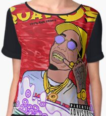 QuavO's Cereal (RED) Women's Chiffon Top