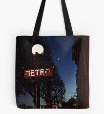 The Metro and the Moon (paris)  Tote Bag