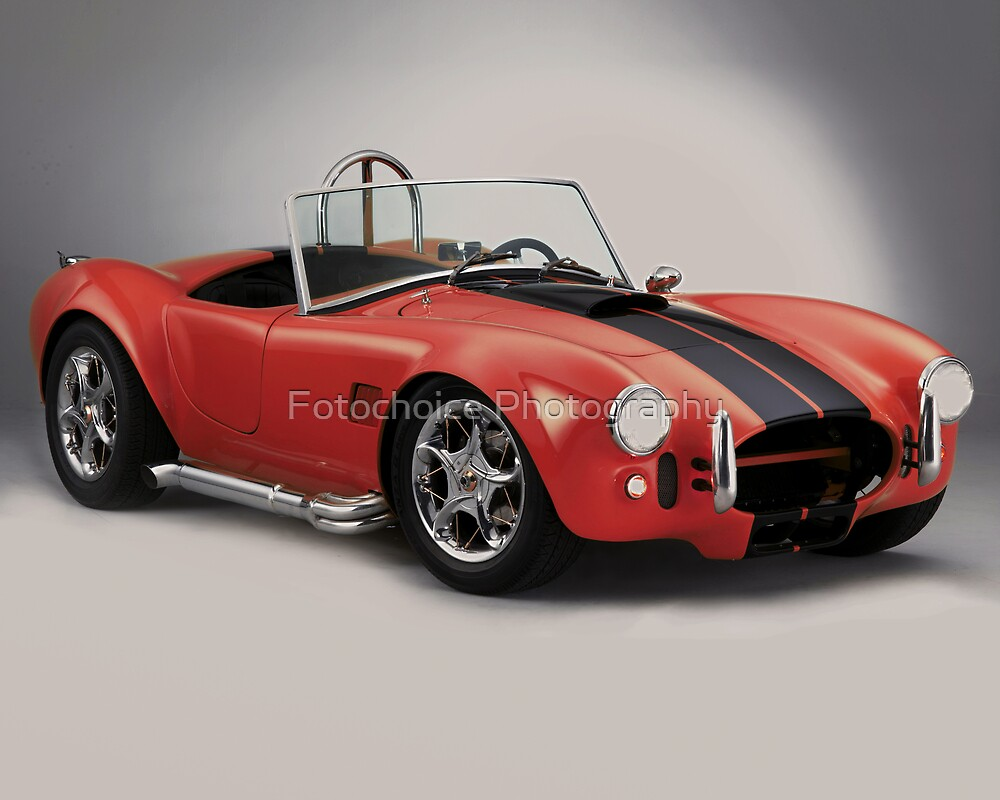 Performance sports car - Red Cobra by Fotochoice Photography