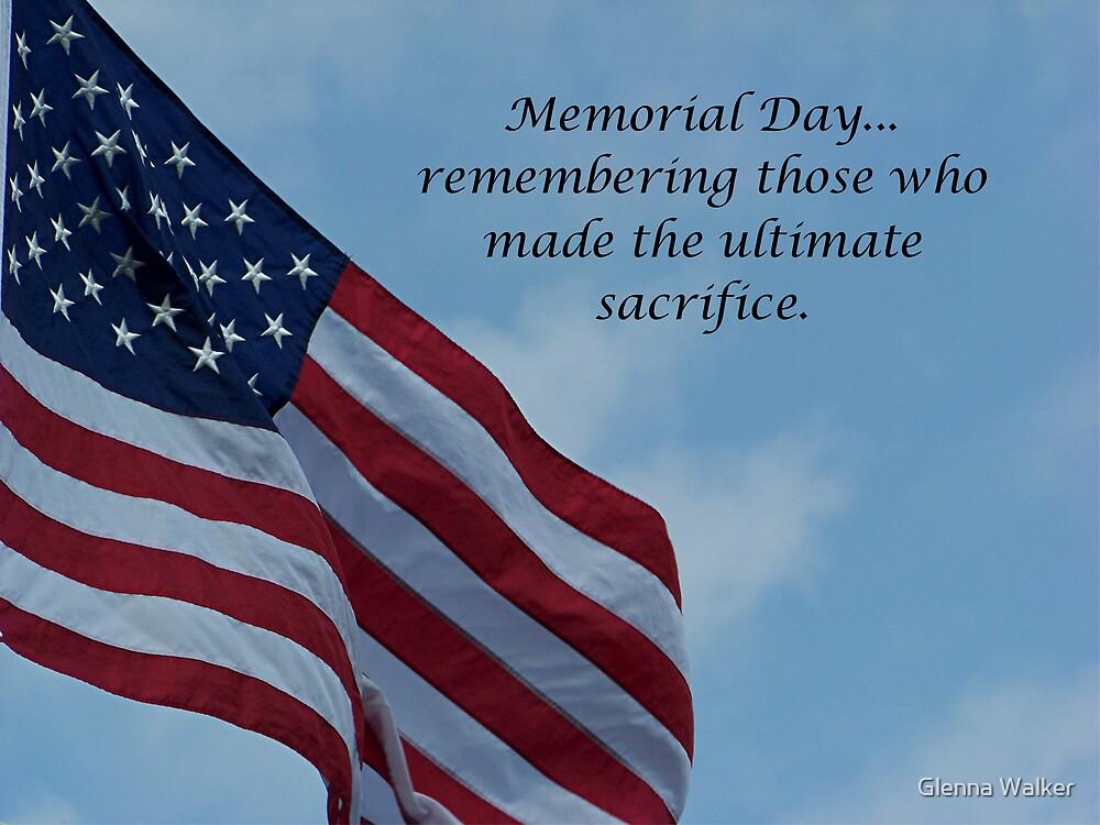 On Memorial Day by Glenna Walker