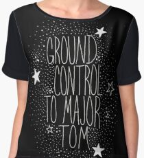 Major Tom Inverted Chiffon Top