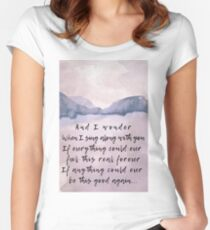 Foo Fighters Lyrics  Women's Fitted Scoop T-Shirt