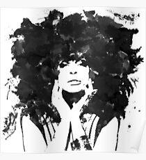Erykah Badu (Monochrome) Poster