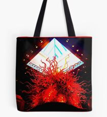 Pyramid of Fire ~ Chihuly Tote Bag