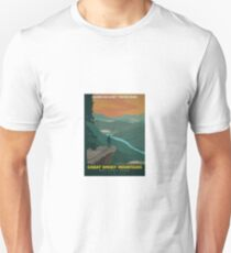 Vintage Travel Poster – Great Smoky Mountains National Park Unisex T-Shirt