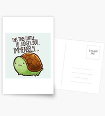 This turtle.. he judges you. Postcards