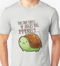 This turtle.. he judges you. Unisex T-Shirt