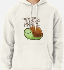 This turtle.. he judges you. Pullover Hoodie