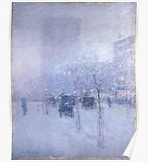 Late Afternoon New York Winter - Childe Hassam Poster