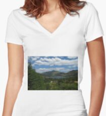 Lochgoilhead, The Cowal Way Women's Fitted V-Neck T-Shirt