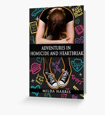Adventures in Homicide and Heartbreak book cover Greeting Card