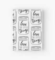 Enjoy the Little Things Mason Jar Quote Hardcover Journal