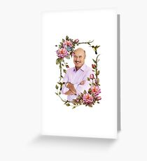 Elegant Flower Frame - Dr. Phil Greeting Card