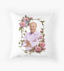 Elegant Flower Frame - Dr. Phil Throw Pillow