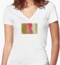 Unfolded  - JUSTART ©  Women's Fitted V-Neck T-Shirt