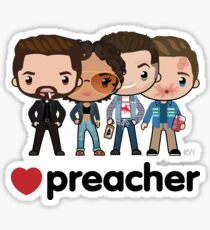 Love Preacher - Jesse, Tulip, Cass & Eugene Sticker
