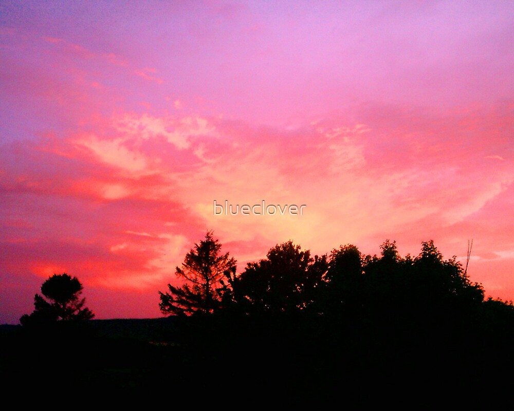 Bright May Sky at Sunset by blueclover