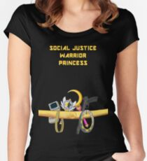 Social Justice Warrior Princess Women's Fitted Scoop T-Shirt