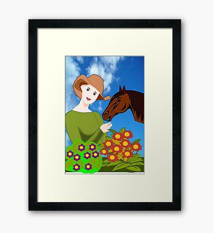 Love for Horses (3654 Views) Framed Print