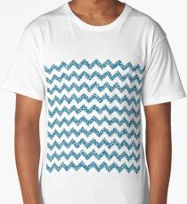dotted turquoise chevron pattern Long T-Shirt