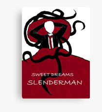 Sweet Dreams, Slender Man Canvas Print