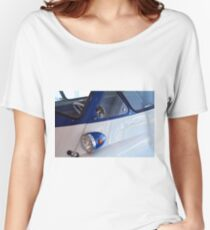 Close up on vintage blue classic car Women's Relaxed Fit T-Shirt