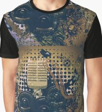 Vintage Music Microphone 3 Graphic T-Shirt