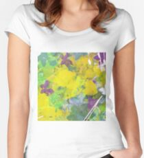 WINTER YELLOWS by Nibs Gallery Women's Fitted Scoop T-Shirt