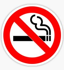 Anti-Smoking paraphernalia   Sticker